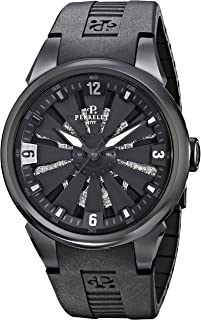 Men's A4022/1 Turbine Toxic Analog Display Swiss Automatic Black Watch