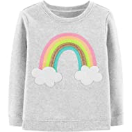 Girls' Sequin Crew Neck Sweatshirt