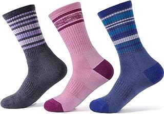 72% Women's Mens Merino Wool Hiking Socks, Outdoor Trail Crew Quarter Ankle Socks 3 Pack