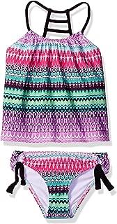 Girls' Ladder Back Tankini Top & Tubular Bikini Bottom Swimsuit Set