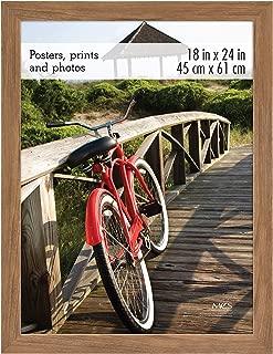 MCS Museum Poster Frame, 18x24 Inch, Medium Oak Woodgrain