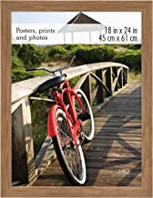 MCS 68863 Poster Frame, 18 x 24 Inch, Medium Oak Woodgrain