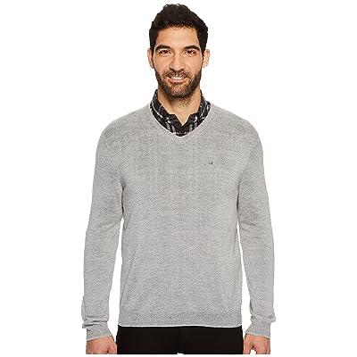 Calvin Klein Solid Merino V-Neck Sweater (Schio) Men