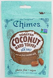 Chimes Toasted Coconut Toffee with Sea Salt, 3.5 Ounce (Pack of 12)