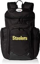 NFL Pittsburgh Steelers traveler Backpack One Size 1680 Denier Nylon Backpack, Black
