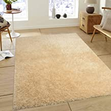 Saral Home Soft Smooth Feeling Heavy Duty Saggy Carpet for Living Room -180x270 cm, Ivory