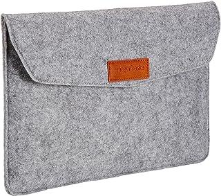 AmazonBasics 11 Inch Felt Macbook Laptop Sleeve Case - Light Grey