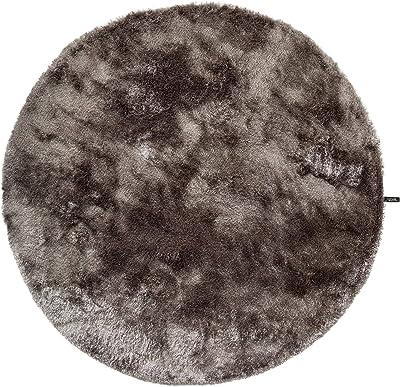 benuta Shaggy Tapis, Fibres synthétiques, Gris, 80 cm