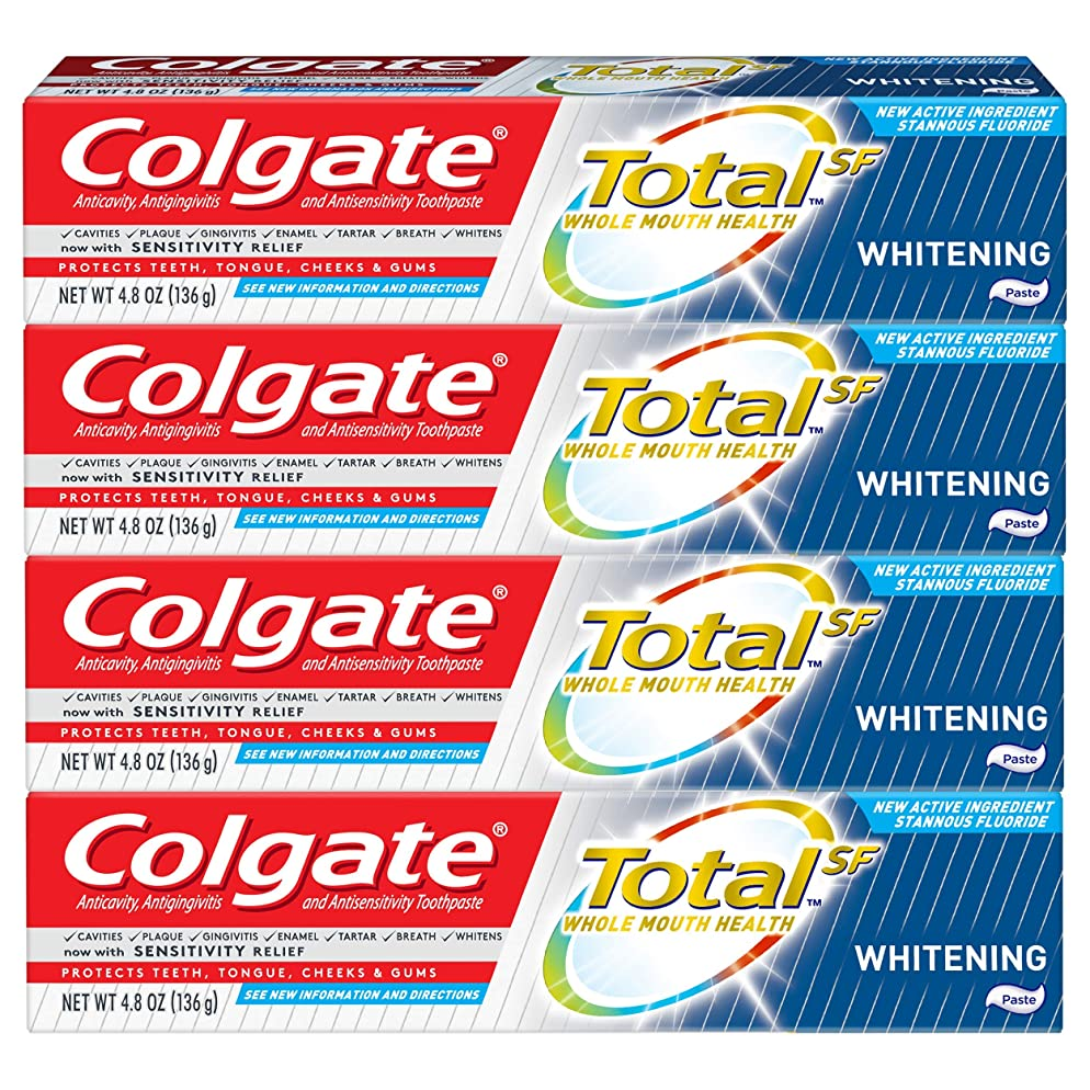 Colgate Total Whitening Toothpaste, 4.8 ounce - 4 pack