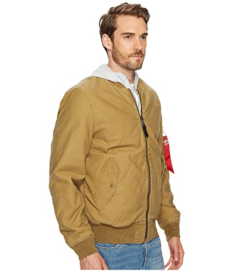 Industries Alpha Cotton Slim MA 1 Jacket 7ZTW4ZH
