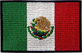 EmbTao Mexico Flag Embroidered Patch Mexican Iron On Sew On National Emblem