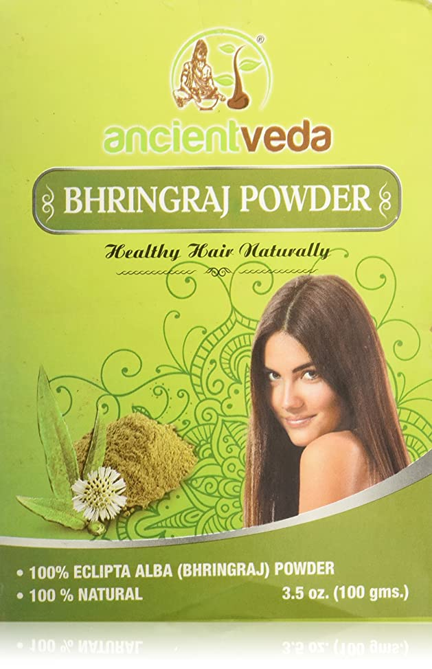 Bhringraj Powder for hair, 7 Oz(Pack of 2 X 100 Gms) - NO Fillers, NO Preservatives, NO Chemicals - Ancient Veda