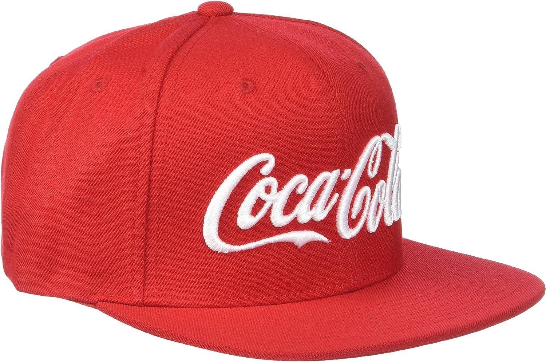 MERCHCODE Coca Cola Unisex Snapback Cap Logo Baseball Cap Adult