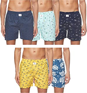 Longies Mens 100% Cotton Boxers ( Pack of 3 and 5)