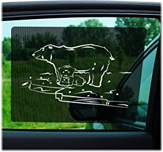 Just-f-Care Car Sun Shades 2 Pack - Friendly Zoo Animals, Protects Kids from Harmful UV Rays, Self Adhesive, Easy to Install, Doesn´t Block The View - Able to Scroll The Window, 100% Guarantee