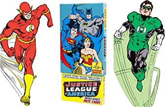 Justice League of America Greeting Card Boxed Set - Die Cut Silhouette Cards of Aquaman, Batman, The Flash, Green Lantern, Martian Manhunter, Superman, Wonder Woman