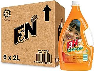 F&N Orange Syrup Cordial, 2L (Pack of 6)