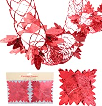 Christmas Concepts® Pack of 2 9ft Garland Festive Hanging Decorations - Red