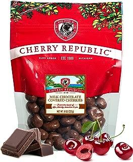 Cherry Republic Chocolate Cherries - Authentic and Fresh Chocolate Covered Cherries Straight from Michigan - Milk Chocolate, 8 Ounces