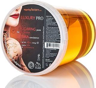 "Sugaring Paste""Luxury PRO"" – Organic Hair Removal - HARD Paste for BRAZILIAN bikini, dark hair, 43 oz / 2.6 lbs - Long-Lasting Sugar Wax, PROFESSIONAL SKILLS REQUIRED"