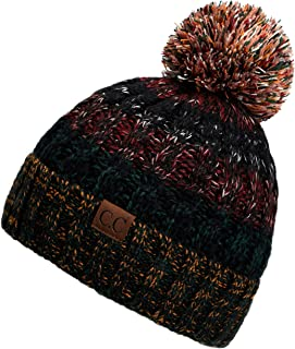 Exclusives Women's Winter Slouchy Knitted Hat Cable Knit Pom Beanie Hat (HAT-1816)