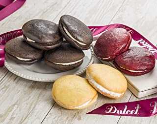 Dulcet Whoopie Pies Gourmet Gift Baskets – Includes 8 Mouthwatering Whoopie-Pies in Assorted Flavors. Elegantly Wrapped. Unique Gift Idea!