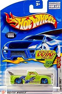 Hot Wheels 2002 Yu-Gi-Oh! Super Tuned 4/4 GREEN #86 #086 1:64 Scale