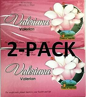 Valeriana Té. 25 Tea Bags. Valerian Tea. 2-PACK (50 Tea bags Total)