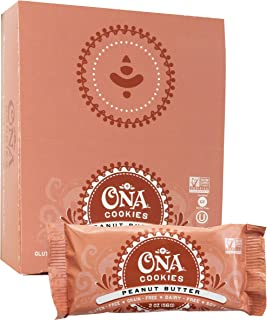 Peanut Butter Cookies by Ona, Gluten Free, SCD Approved, Dairy Free, Honey Sweetened Healthy Treats (12 Pack)