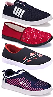 WORLD WEAR FOOTWEAR Women's (5032-9041-9236-1450) Multicolor Casual Sports Running Shoes (Set of 4 Pair)