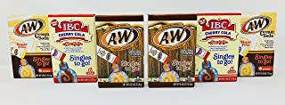 Singles To Go! A&W Root Beer + A&W Cream Soda + IBC Cherry Cola Variety Pack Bundle - 6 Boxes (2 of each flavor) w/6 pouches in each!
