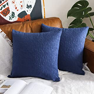 Kevin Textile Decor Soft Solid Velvet Toss Throw Pillow Cover Striped Decorative Pillow Case Handmade Cushion Cover for Couch, 2 Pc, 20