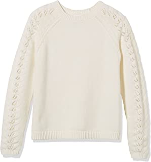 Kid Nation Girls Sweaters Pullover Long Sleeve Crewneck Christmas Knit Tops 4-12Y