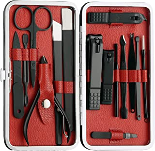 Beauté Secrets 15 Pcs Nail Clippers Set, Professional Pedicure Kit Stainless Steel Nail Scissors Travel & Grooming Kit Man...