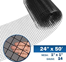 Fencer Wire 14 Gauge Black Vinyl Coated Welded Wire Mesh Size 1 inch by 1 inch (2 ft. x 50 ft.)