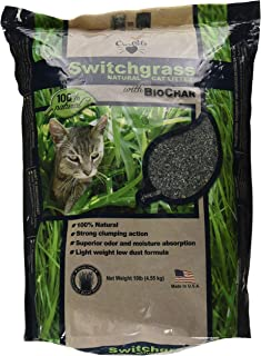 OurPets Switchgrass Natural Cat Litter with Biochar, 10 pound