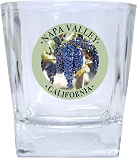 Napa Valley California Souvenir Wine Country Sonoma Grapes Whiskey Glass Set of 2