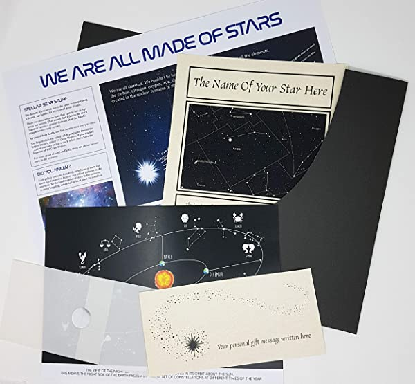 Planetsforsale Name A Star Personalized Gift In A Presentation Folder A Swarovski Element Marks The Location Of Your Star Any Name Any Dedication Ideal For Any Occasion