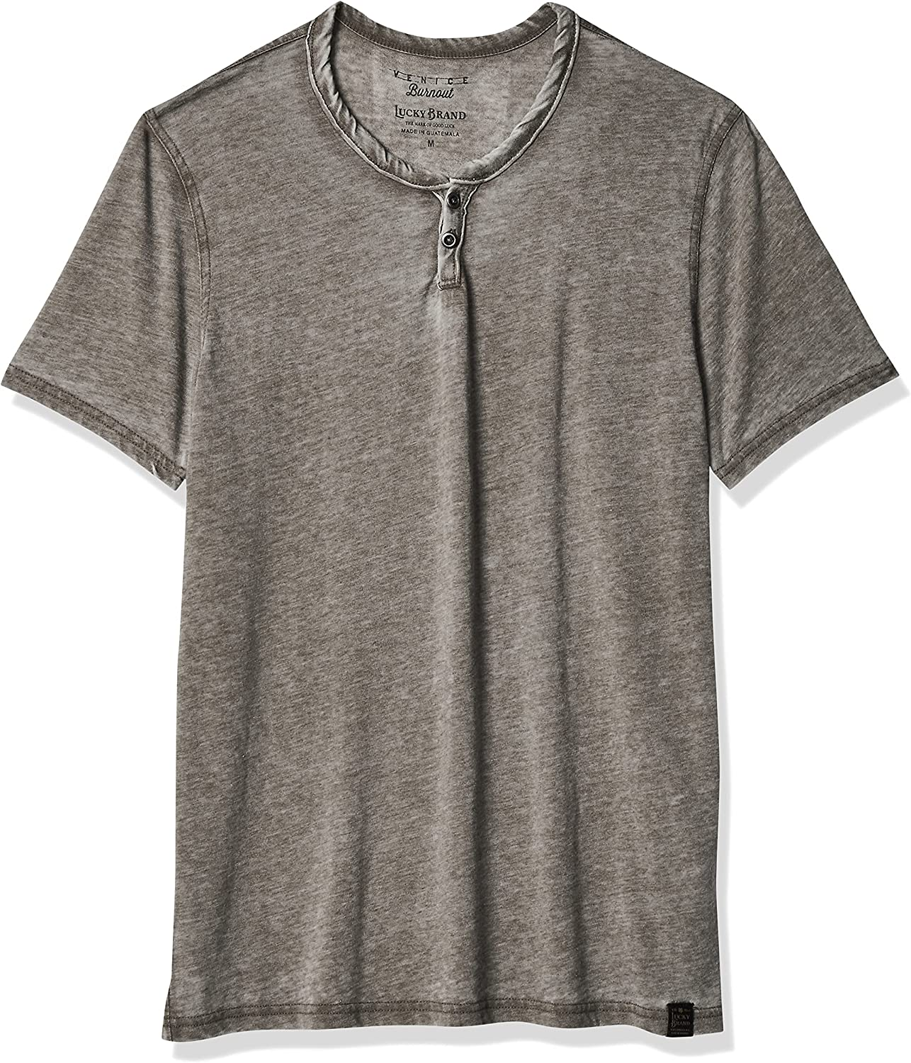 Lucky Brand Men's Max 61% OFF Venice Burnout Neck Tee Shirt Notch Easy-to-use