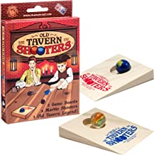 product image for Classic Old Tavern Shooters Table Game With 2 Wood Ramps And 4 Marbles (8+)