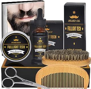 Ultimate Beard Grooming & Growth Kit Gifts for Men/Dad/Husband/Him with Beard Oil Conditioner,Beard Balm,Beard Brush,Beard Comb,Mustache Scissors for Men Beard Care