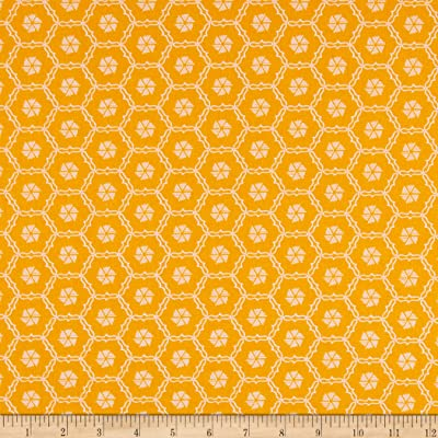 Orange Green Yellow and Black Designs Vintage Fabric for Crafting