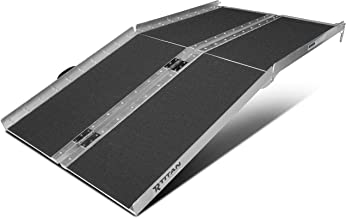 Titan Ramps 5' ft Aluminum Multifold Wheelchair Scooter Mobility Ramp Portable 60