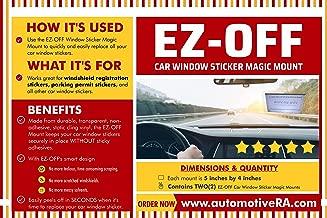 EZ-OFF Car Window Sticker Magic Mount