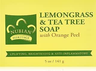 Nubian Heritage Lemongrass & Tea Tree Bar Soap, 5 oz
