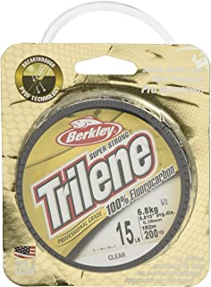 Berkley Trilene-Línea de fluorocarbono Transparente, 11,3 kg/0,48 mm, Unisex Adulto