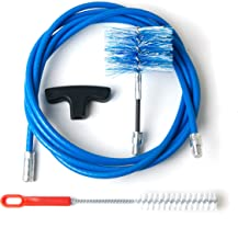 Kit 3metros + scovolo Flex 80mm Kit Limpieza Estufa de pellets tubo caña liberación con Curve