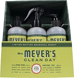 Mrs. Meyer's Clean Day Kitchen Basics Set, Iowa Pine, 3 ct: Dish Soap (8 fl oz), Hand Soap (7.75 fl oz), Multi-Surface Everyday Cleaner (8 fl oz) (Pack - 1)