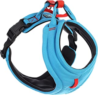 "Gooby - Lite Gear Harness, Memory Foam Padding with Front Clip, Blue, X-Large Chest (22-27"")"