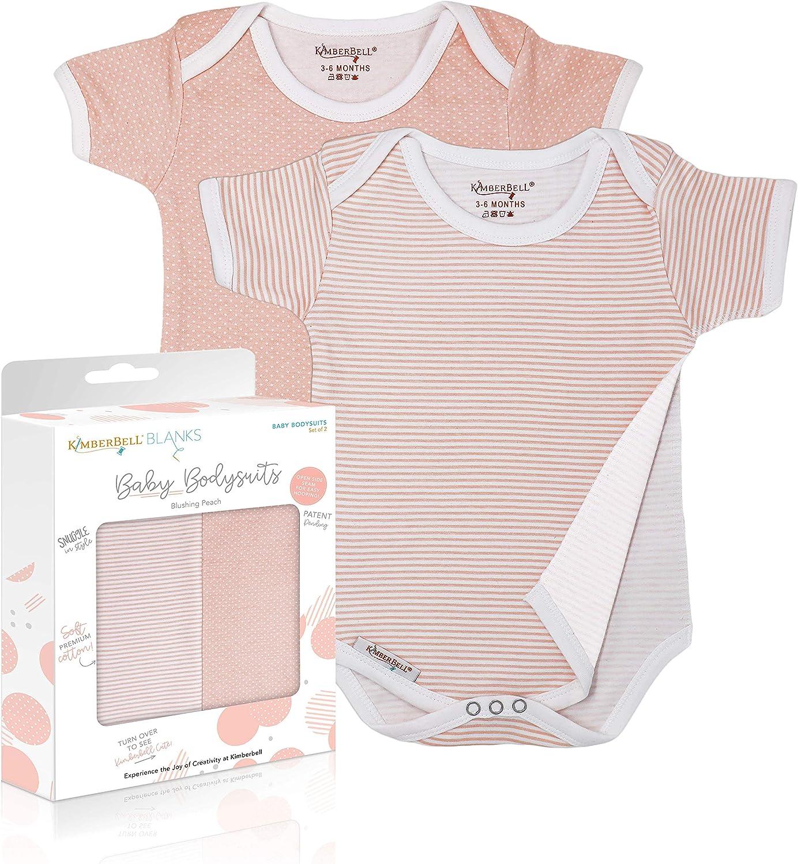 Kimberbell Baby Bodysuits - Peach Award Ranking TOP2 In Patt Onesies Includes: 2